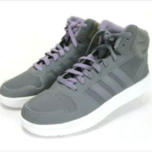 Adidas Men's High Top Sneakers Size 9 Gray